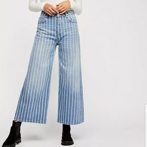NWOT Free People Earn Your Stripes Jeans